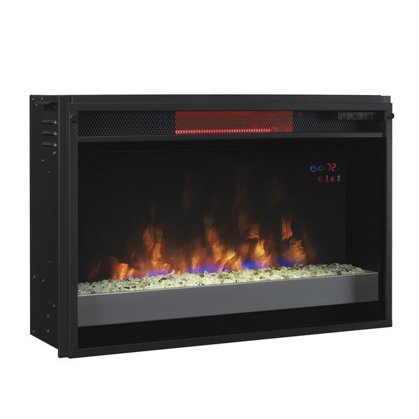 Classicflame 26ii310grg 201 26 Inch Contemporary Infrared Quartz Fireplace Insert With Safer