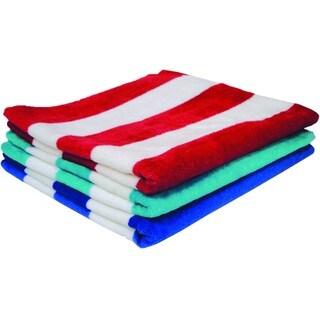 100-percent Cotton Striped Beach Towel