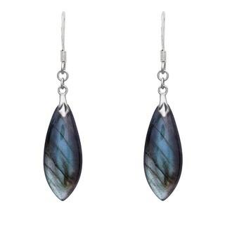 La Preciosa Sterling Silver Blue Labradorite Dangle Earrings
