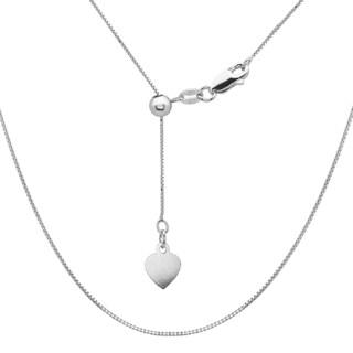 La Preciosa Sterling Silver Adjustable Box Heart Chain
