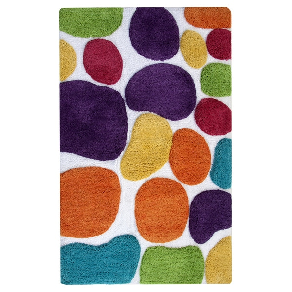 Pebbles Brights 24 x 36 Bath Runner - Rainbow Multi