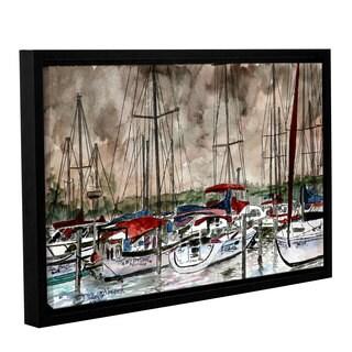 ArtWall Derek Mccrea 'Sailboats' Gallery-wrapped Floater-framed Canvas