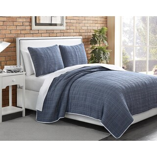 Chambray Plaid 3-piece Quilt