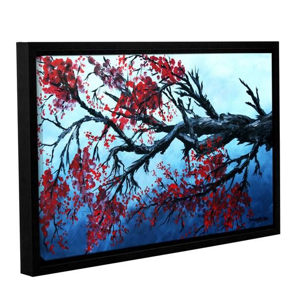 ArtWall Derek Mccrea 'Japanese Cherry Blossom' Gallery-wrapped Floater-framed Canvas 22110068