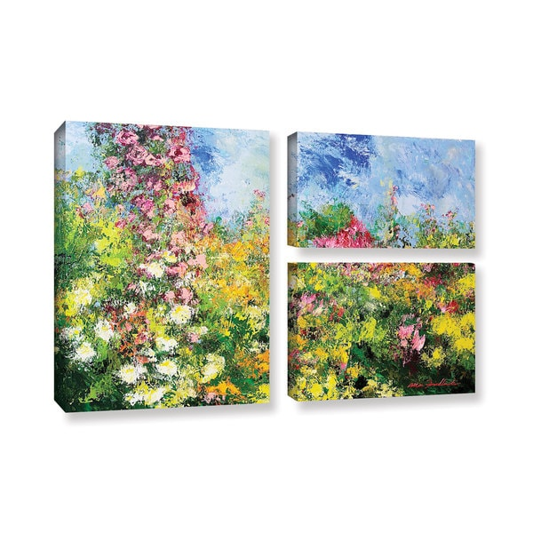 ArtWall Allan Friedlander 'Wild Sweetness' 3 Piece Gallery-wrapped Canvas Flag Set