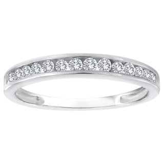 Sterling Silver 1/4ct TDW Diamond Wedding Band (H-I, I2-I3)