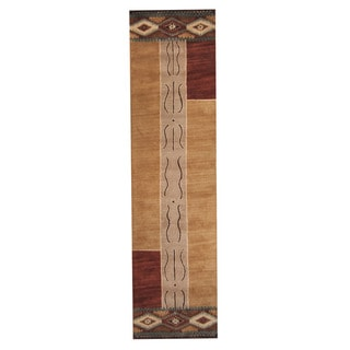 Herat Oriental Indo Hand-Tufted Mahal Multicolor Wool Rug (3' x 12')