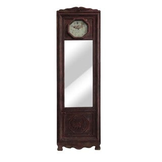 Red Finish 22-inch Free Standing Mirror