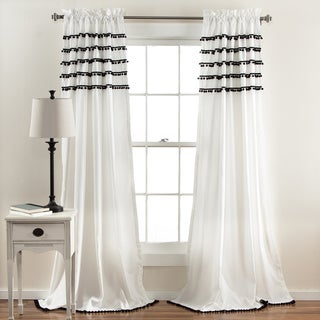 Lush Decor Aria Pom Pom Window Curtain Panel