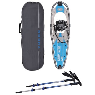 Yukon Charlies Men's Blue Trail Star Snowshoe Kit with Bag and Poles