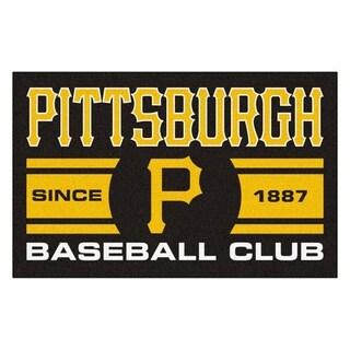 Fanmats Pittsburgh Pirates Black Nylon Uniform Inspired Stater Rug (1'6 x 2'5)