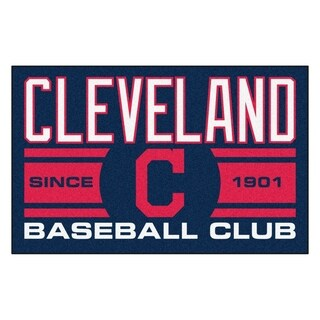 Fanmats Cleveland Indians Blue Nylon Uniform Inspired Stater Rug (1'6 x 2'5)