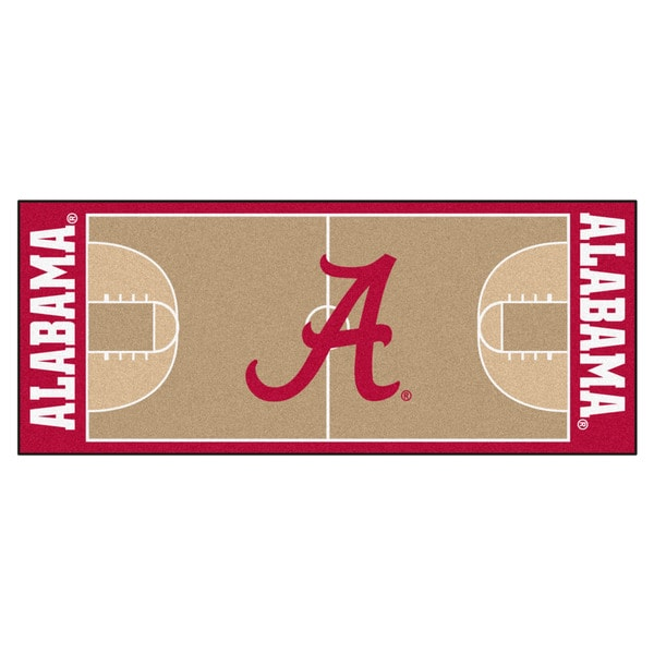 Fanmats University of Alabama Tan Nylon Basketball Court Runner (2'5 x 6') 15889941