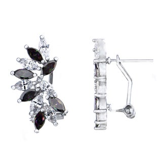 Marquise Cut CZ Cluster Earrings