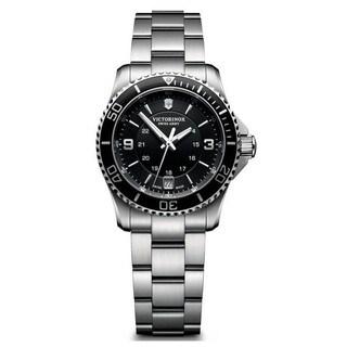 Victorinox Swiss Army Women's 241701 'Maverick' Black Stainless Steel Watch