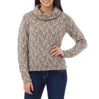 Alpaca 'Dancing Brown Leaves' Sweater (Peru)