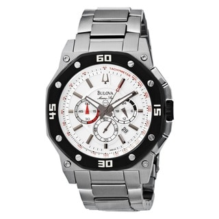 Bulova Men's 98B119 Stainless Steel Marine Star Chronogeahp Watch