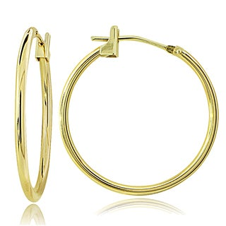 Mondevio 10k Gold 1.5 mm Round Hoop Earrings