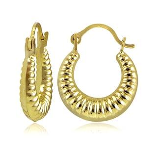 Mondevio 10k Gold Shrimp Design Hoop Earrings