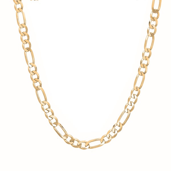 Sterling Essentials 14k Gold Plated Silver Figaro Chain (4mm)