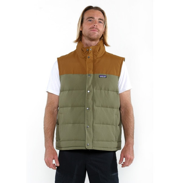 Patagonia Men's Fatigue Green Bivy Down Vest