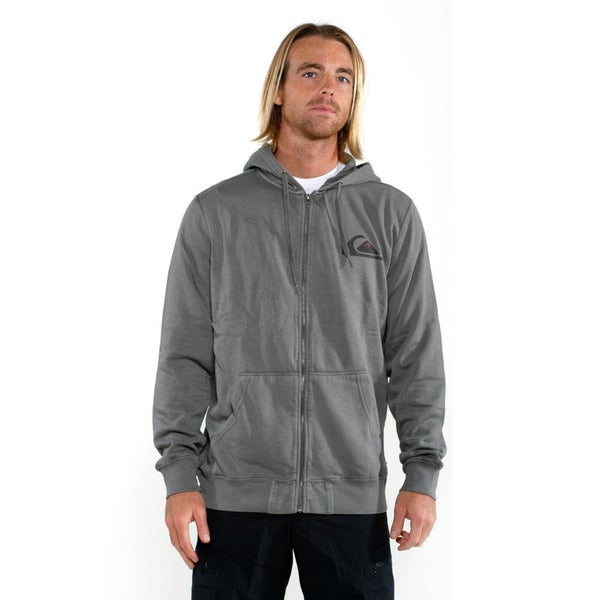 Quicksilver Men's Grey Duff Full zip Sweatshirt