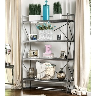 Furniture of America Nara Contemporary 4-Shelf Open Bookshelf