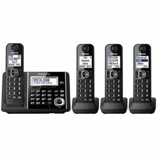 Panasonic KX-TGF344B Cordless Phone and Answering Machine with 4 Handsets