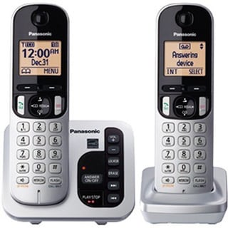 Panasonic KX-TGC222S DECT 6.0 Expandable Digital Cordless Answering System with 2 Handsets