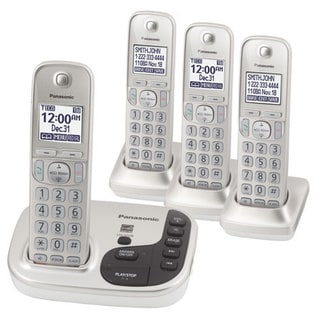 Panasonic KX-TGD224N DECT 6.0 Expandable Digital Cordless Answering System with 4 Handsets