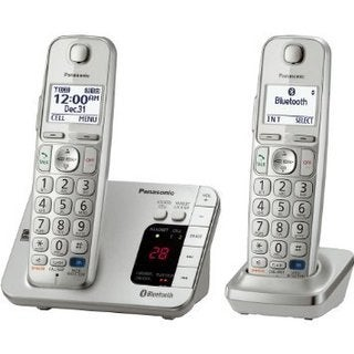 Panasonic KX-TGE262S DECT 6.0 Expandable Digital Cordless Answering System with 2 Handsets (Refurbished)