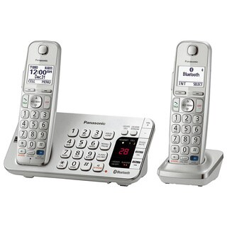 Panasonic KX-TGE272S DECT 6.0 Expandable Digital Cordless Answering System with 2 Handsets