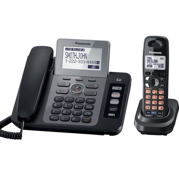 Panasonic KX-TG9471B 2-Line Corded/Cordless Phone with Digital Answering System and Contact Sync with 1 Handset