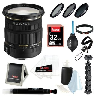 Sigma 17-50MM F2.8 EX DC OS HSM Zoom Lens for Canon + 32GB Accessory Bundle