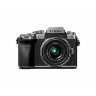 Panasonic LUMIX DMC-G7KS Digital Single Lens Mirrorless Camera Kit with 14-42MM Lens Kit, 4K (Silver)