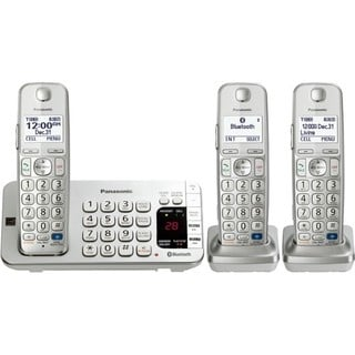 Panasonic KX-TGE273S DECT 6.0 Expandable Digital Cordless Answering System with 3 handsets (Refurbished)