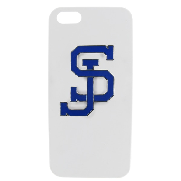 San Jose State Enamel SJ White iPhone 5/ 5S Case