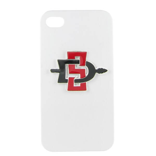 San Diego State Enamel SD White iPhone 4/ 4S case
