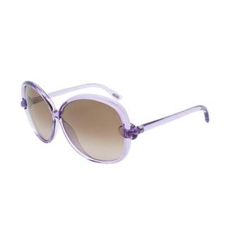 Tom Ford Ingrid TF163 78F Purple Translucent Brown Gradient Sunglasses