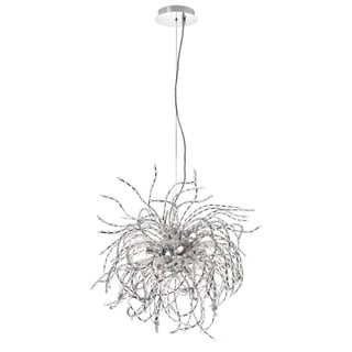 Dainolite 6-light Crystal Chandelier Polished Chrome Finish