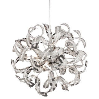 Dainolite 6-light Crystal Chandelier in Polished Chrome Finish