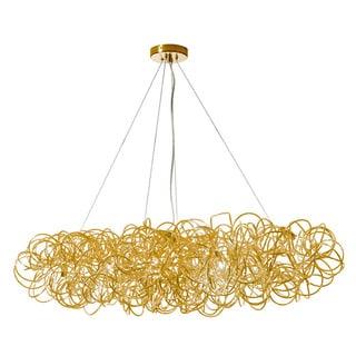 Dainolite 8-light Horizontal Tubular Pendant in Gold Finish