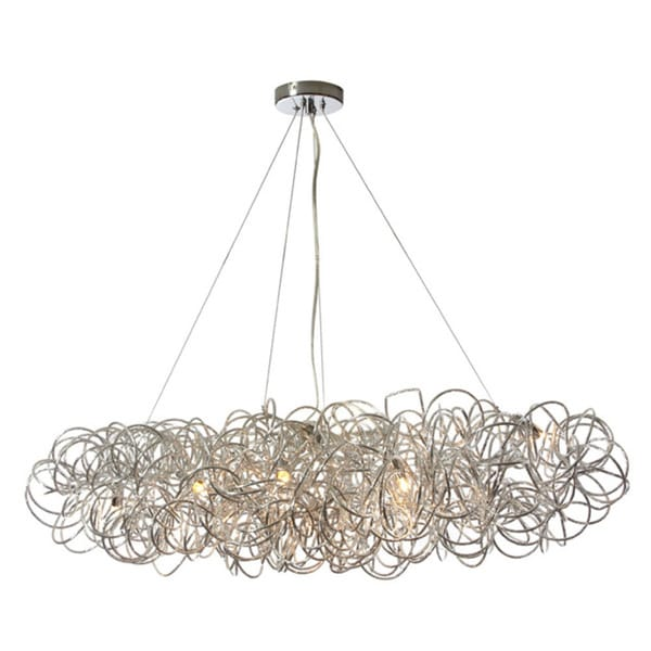 Dainolite 8-light Horizontal Tubular Pendant in Chrome Finish