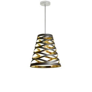 Dainolite 1-light Cut Out Pendant with Black on Gold Shade