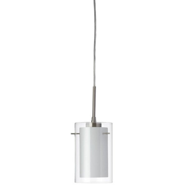 Dainolite Single Pendant with Clear/White Glass