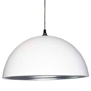 Dainolite 1-light Pendant in Matte White Silver