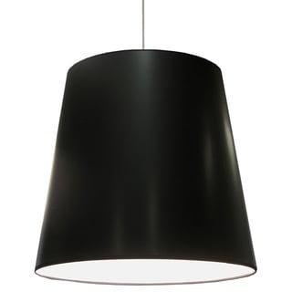 Dainolite 1-light Oversized Drum Pendant with Black on White Shade in X-Large