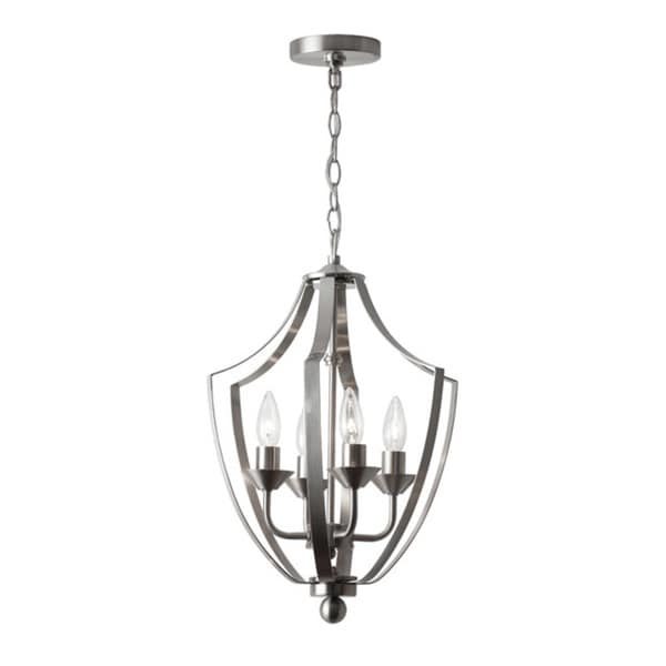 Dainolite 4-light Foyer Fixture in Satin Chrome Finish
