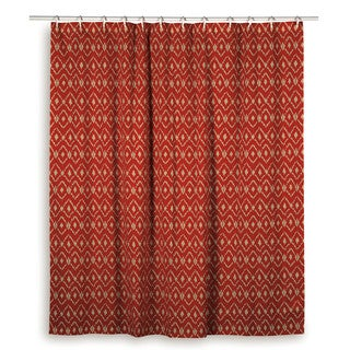 Rizzy Home Ikat Shower Curtainsm Blue, Red, Orange