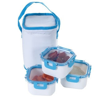 Classic Cuisine Portable 3-piece Food Storage Set and Insulated Bag